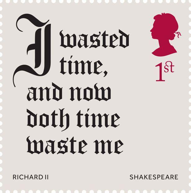 Марка 1 класса, посвященная 400-летию со дня смерти Шекспира