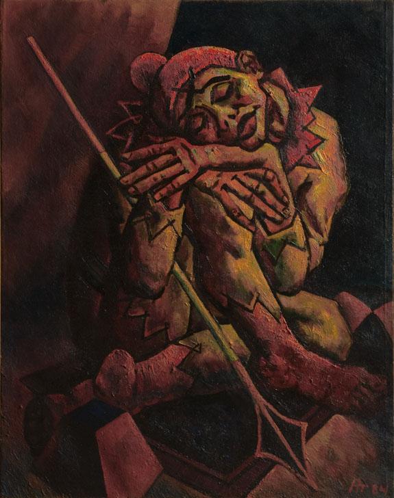 А. Д. Тихомиров. Шекспировские мелодии (средневековый шут). 1984. Холст, масло.